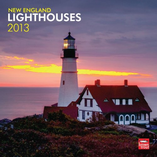 New England Lighthouses 2013 Square 12X12 Wall