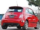 ロッソモデロ(rossomodello)マフラー SFIDA GT-X アバルト500 ABA-312141 左ハンドル MT 135PS車専用 ABARTH