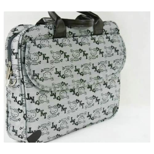 14 Lovely Gray Colored Hello Kitty Style Computer Bag/Laptop Bag(With Shoulder Strap)