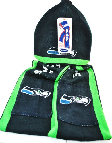 NFL Seattle Seahawks Knit NFL official Hoody Scarf NEW at Amazon.com
