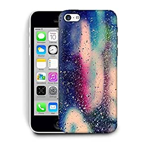 Snoogg Colorful Water Drops Printed Protective Phone Back Case Cover For Apple Iphone 5C