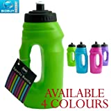 Sports Bottle - One Handed - Pop-Up Top - Carry Handle (Green)