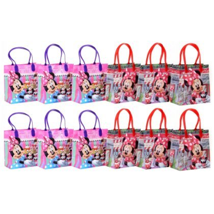 "Disney Minnie Mouse Party Favor Goodie Gift Bag - 6"" Small Size (12 Packs)"