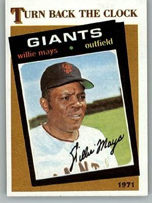 1986 Topps # 403 Willie Mays 1971 San Francisco Giants Baseball Card