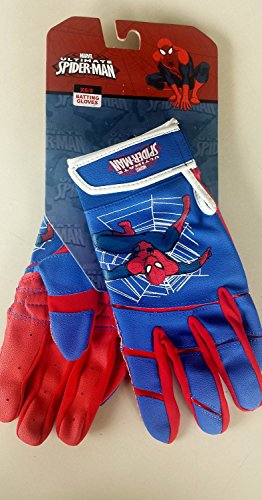 Spiderman New Marvel Ultimate Spider-man Easton Youth Baseball Batting Gloves - size M/L (Cheap Spiderman Costume)