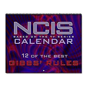 CafePress NCIS Gibbs' Rules Wall Calendar - Standard Multi-color