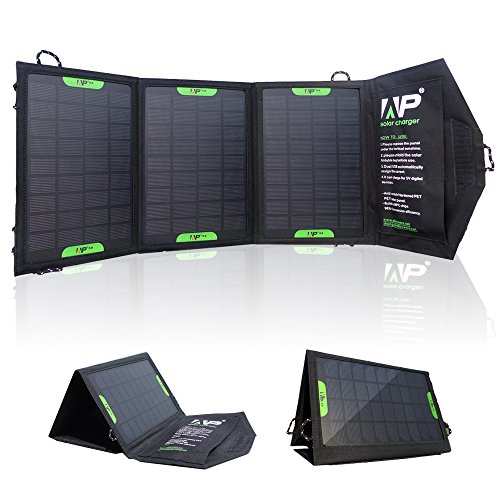 ALLPOWERS™ 12W Portable Foldable Solar Charger Panel with PowersIQ™ Technology Power Pack Portable Charger Backup for iPhone 6 5s 5c 5 4s 4, Samsung Galaxy S5 S4 S3, Blackberry, OPPO, LG, PDA, GPS Units, Digital Camera, Video Camera, PSP Video Games, Bluetooth Headset, IPOD Digital Products & All Other USB Compatible Devices