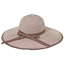 Ribbon Crusher Travel Hat - 5 inch brim - HS360 (Brown stripes)