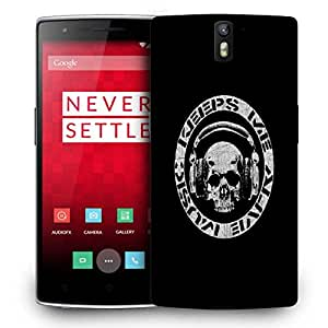 Snoogg Keep Me Alive Music Designer Protective Back Case Cover For ONEPLUS ONE