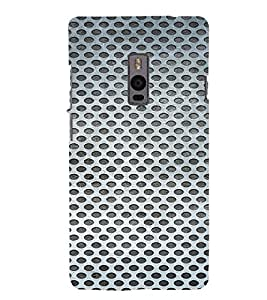 PrintVisa Iron Mesh Pattern 3D Hard Polycarbonate Designer Back Case Cover for One Plus Two