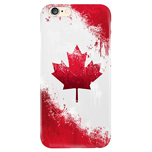 Canada Flag Design Matte Hard Case Cover For Iphone 6 6S [Scratch Resistant] Canadian (Canada I Phone 6 Cover compare prices)