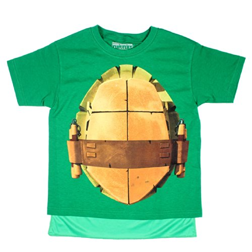Teenage Mutant Ninja Turtles Boys Michelangelo Costume T-Shirt with Cape