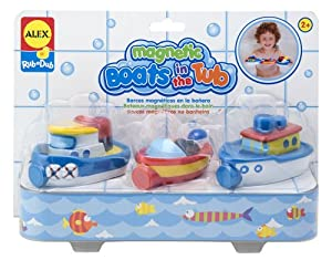 ALEX® Toys -Bathtime Fun Magnetic Boats In The Tub (3) 823W
