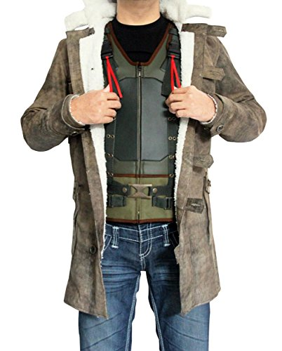 Best Selling The Dark Knight Rises Bane Coat Real Leather Winter Jacket