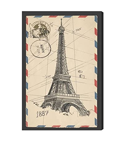 Oliver Gal Eiffel Post Canvas Art