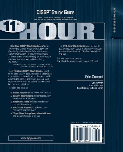 eleventh hour cissp third edition study guide pdf