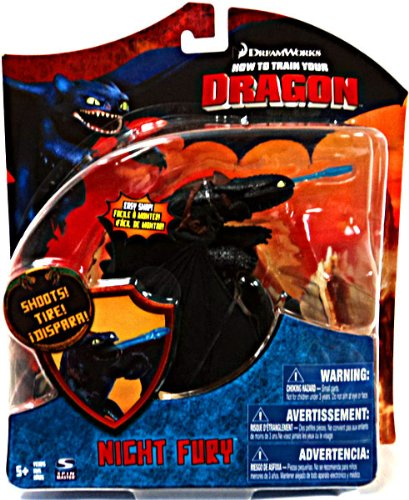 How To Train Your Dragon Movie Series 3 Deluxe 7 Inch Action Figure Nighty Fury Version 3 Shoots