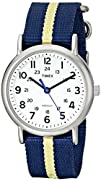 Timex Unisex T2P1429J Weekender Silver-Tone Watch with Blue