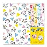 Bloc de papiers à Origami kawaii avec 5 motifs, alpagas, chats, animaux...
