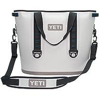 YETI Hopper 40 Portable Cooler (Fog Gray / Tahoe Blue)