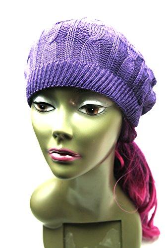 Crispy-Women-Winter-Warm-Knit-Hat-Snow-Ski-Caps-With-Visor-Selection-Purple