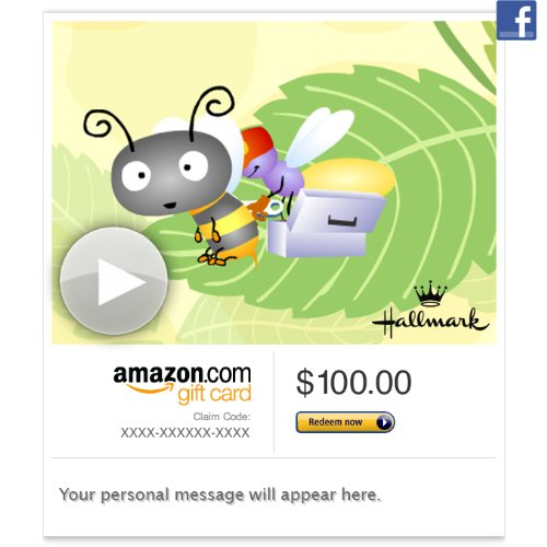 Amazon Gift Card - Facebook - Bee Well (Animated) [Hallmark]