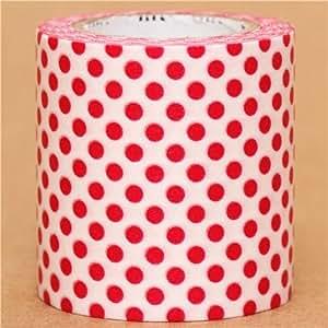 Amazon.com: wide mt Casa Washi Tape 5cm polka dots red deco tape: Toys