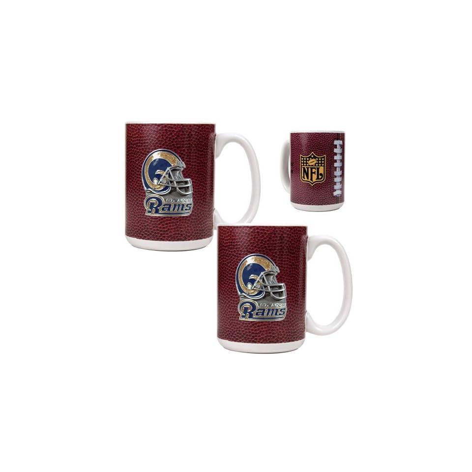 St. Louis Rams NFL 2pc Gameball Ceramic Mug Set Helmet logo on PopScreen 7edab61d7