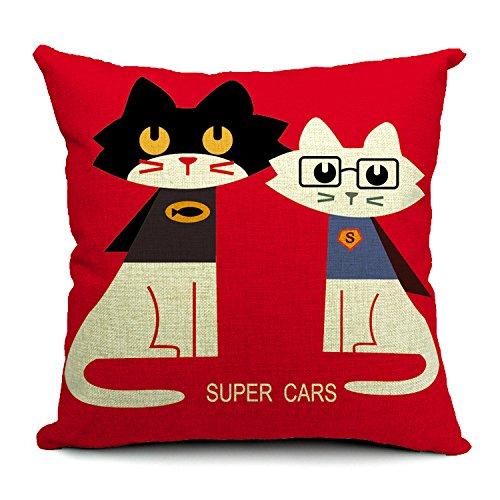 JinRou Moda casual Cat graziosi animali mietitrebbia a nord di stile Europeo e lo stile letterario di cuscini cuscini cuscino 18*18 , gli amanti di superman cat