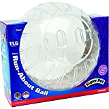 Kaytee Giant Run-About Exercise Ball, 11.5-Inches, Clear