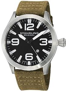 Stuhrling Original Men's 141B.331E1 Aviator Tuskegee Skylancer Swiss Quartz Date Watch