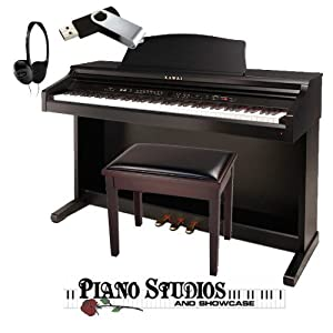 kawai ce220 bundle piano bench headphones and 4gb usb drive. Black Bedroom Furniture Sets. Home Design Ideas