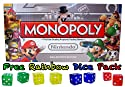 Nintendo Monopoly Board Game - Collector's Edition w/ Free Rainbow Dice Pack