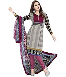 Lifestyle Women's Cotton Unstitched Dress Material (162031895851_Grey_Medium)