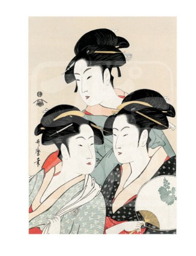Japanese Ukiyoe Print Art Replca(kansei 3 Beautiful Women)