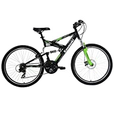 Kawasaki DX 26 Full Suspension Bicycle, 19, Black