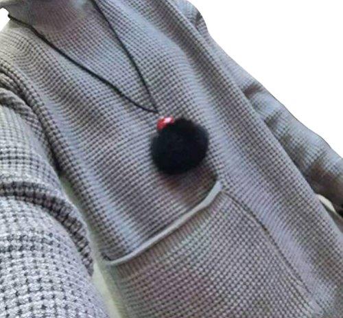 Christmas YFFaye Women's Loose Large Size Round Neck Pocket Knit Sweater