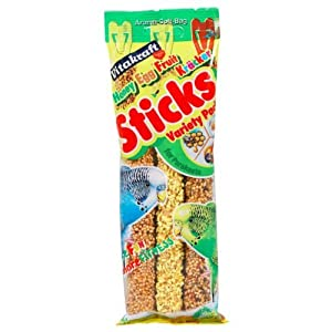 Vitakraft Fruit, Honey & Egg Flavored Kracker Sticks for Parakeets, Pack of 3