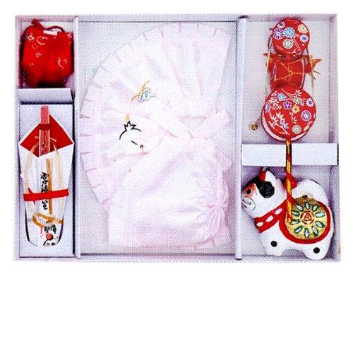 フードセット 女の子フルセット 薄ピンク色 初着 産着 (MSK20 フード型)