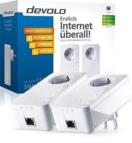 Adaptateur CPL DEVOLO DLAN 500 DUO STARTER KIT 9105 BLANC