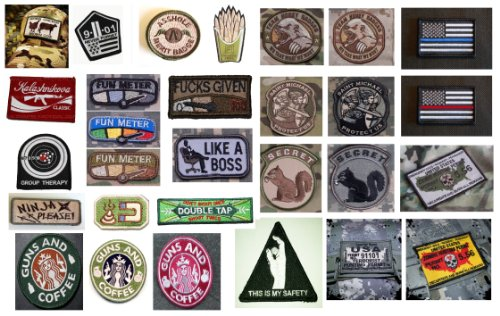 Buy Cheap Tactical Military Morale Hook & Loop Velcro Patches - 20+ Choices