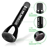 Keynice Bluetooth Wireless Speaker Handheld Microphone for Karaoke Singing compatible with Android Smartphone Apple iPhone Cellphones, Singing Anytime Anywhere - Black