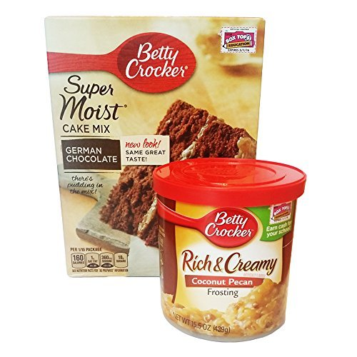 Betty Crocker Butter German Chocolate Cake Mix and Betty Crocker Coconut Pecan Frosting Bundle (German Chocolate Cake Mix compare prices)