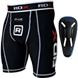 Authentic RDX Compression Flex Shorts & Gel Groin Cup Guard MMA Boxing Muay Thai UFC Box