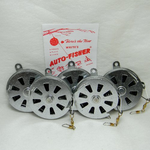 Whites auto fisher yo yo fishing reel automatic 5 reels by for Yo yo fishing