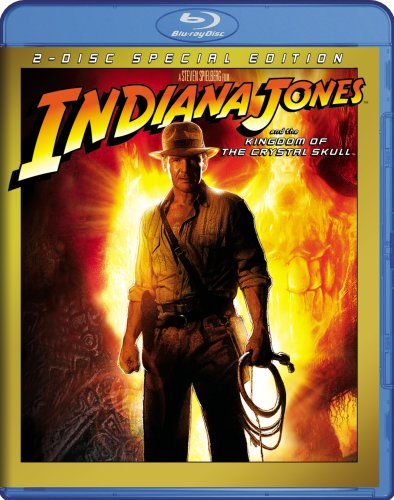 Cover art for  Indiana Jones and the Kingdom of the Crystal Skull [Blu-ray]