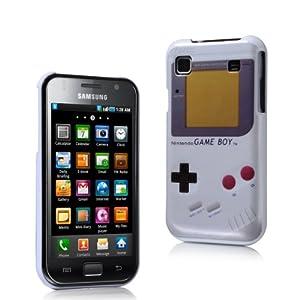 MaryCom PREMIUM QUALITÄT Nintendo Game Boy Style Hartschale weis für Samsung Galaxy S i9000 und Samsung Galaxy S Plus i9001 Smartphone / GBW i9000