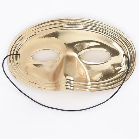 Bulk Buy: Darice DIY Crafts Plastic Mask Gold (6-Pack) 1016-10