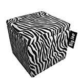 Big Joe Square Storage Ottoman, 15-Inch, Zebra
