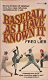 img - for Baseball As Known book / textbook / text book